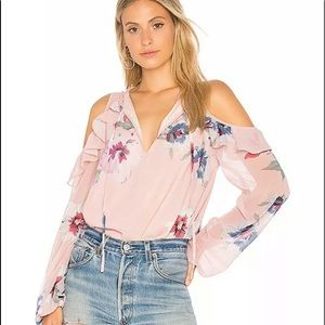 Yumi Kim L Stella Top Floral Cold Shoulder Blouse